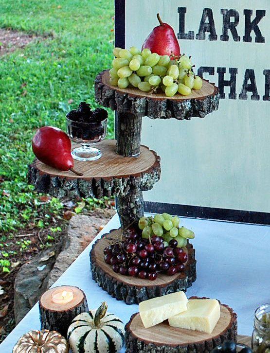 Rustic 3-Tiered Food Display Stand. $70.00, via Etsy.