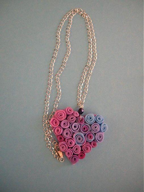 Prívesok Srdce s ružami