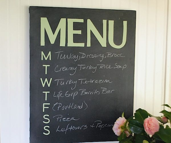 easy canvas chalkboard menu, chalkboard paint, crafts, No more questions about what s for dinner