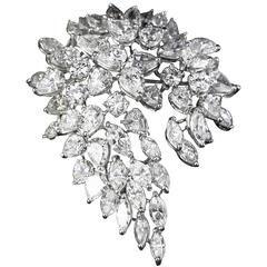 1950s Feather Shaped Diamond Gold Brooch | Estate Jewelry, Los Angeles Diamond Buyers, Sell My Diamond Ring Los Angeles, Estate Jewelry for Sale