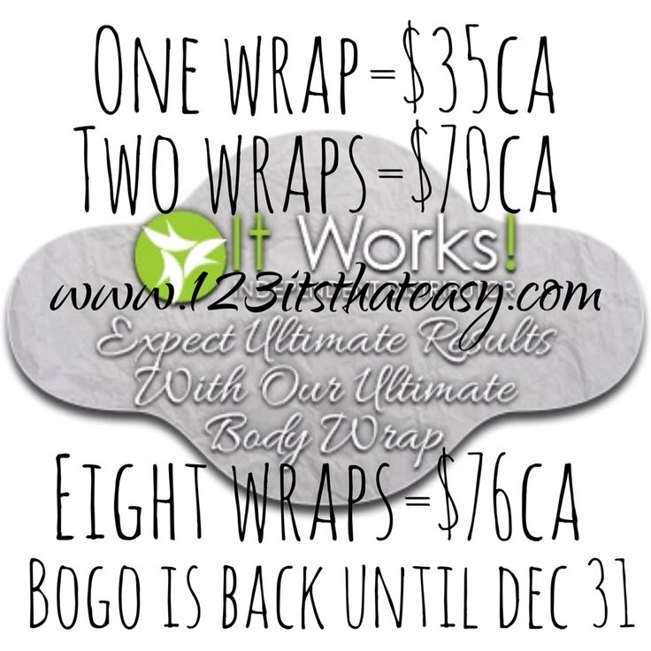 Flipin heck!!!!! Last day to get in on he bogo offer. Buy 1 box of wraps and get 1 free. That's 8 wraps for the price of 4. Call/text me today before the deal is gone for the year 204-299-9824.