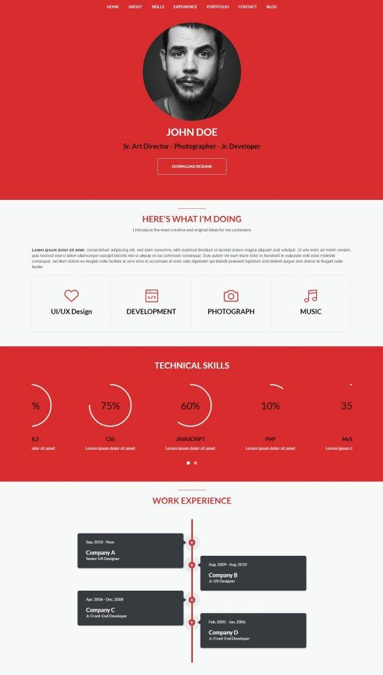 20+ Best Wordpress Resumes U0026 VCard Themes For Your Online CV Http://  Best Online Resumes