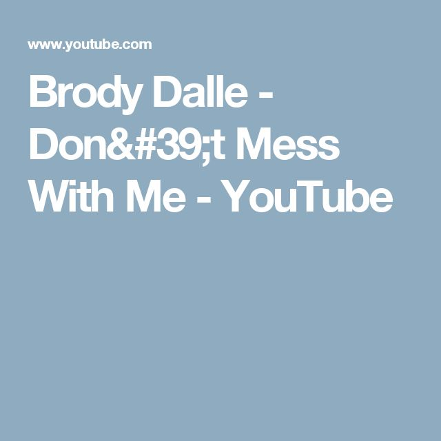 Brody Dalle - Don't Mess With Me - YouTube