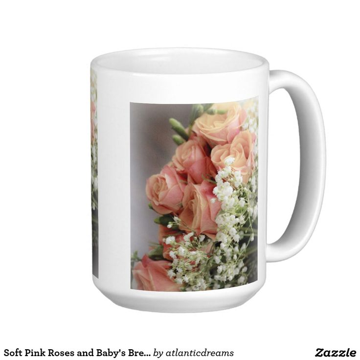 Soft Pink Roses and Baby's Breath Classic White Coffee Mug