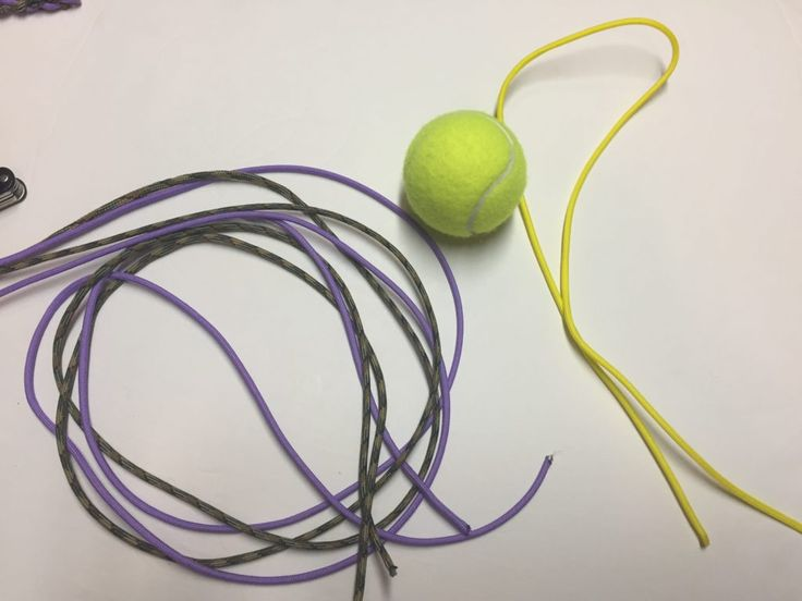 This week's paracord project is a Dog Chew Toy. You only need about 20 feet of paracord and a tennis ball. Make sure to check out our shop for all your paracord and paracord accessory needs. We hav…