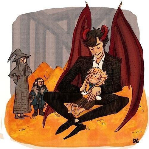 Smauglock has captured Bilbo!! #Hobbit #Sherlock