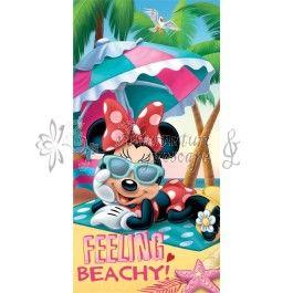 Prosop de plaja pentru copii Disney Minnie Mouse la plaja STN820252