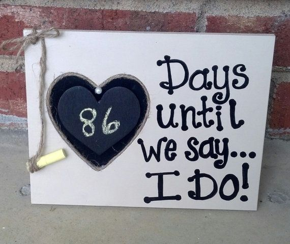 Customized Countdown to Wedding by SummerChicCreations on Etsy