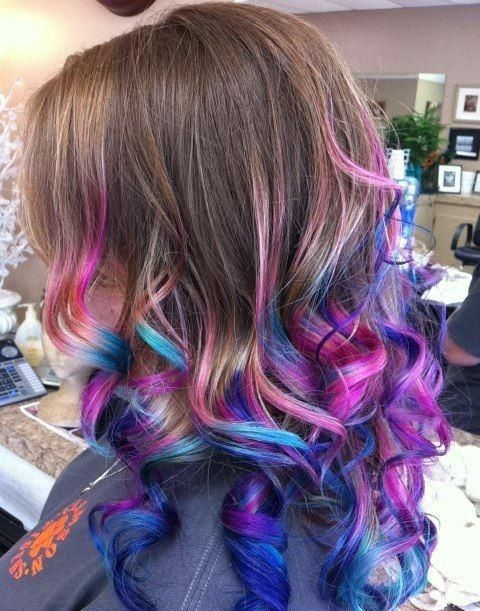 Candy Colored Dip   Hair Colors Ideas