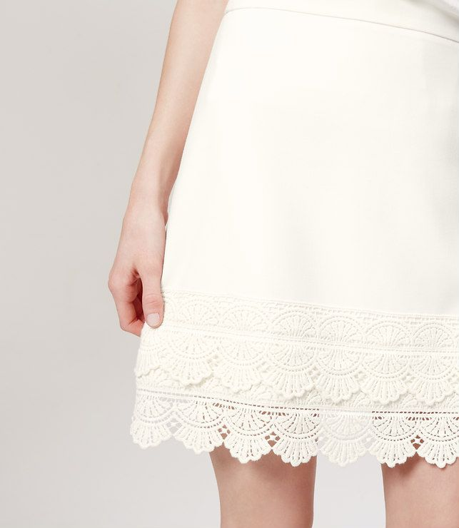 Thumbnail Image of Color Swatch 4899 Image of Petite Lace Hem Skirt