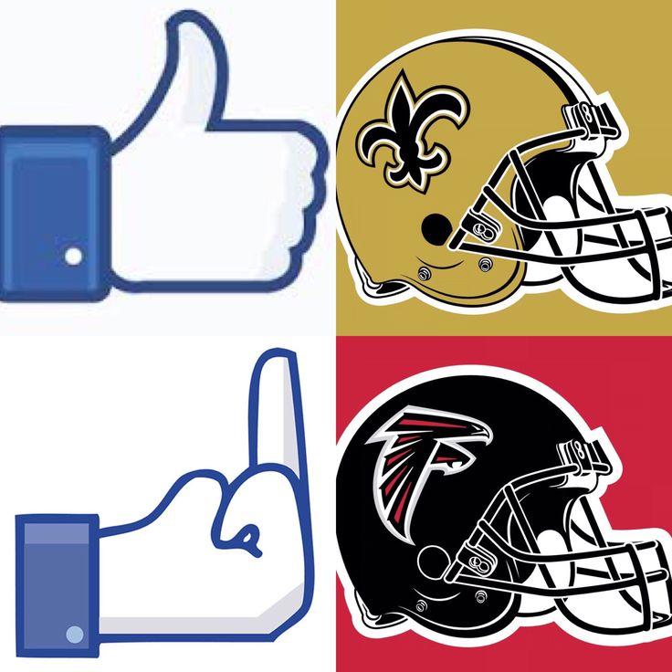 New Orleans Saints - Who Dat!  Atlanta Falcons - Suck!