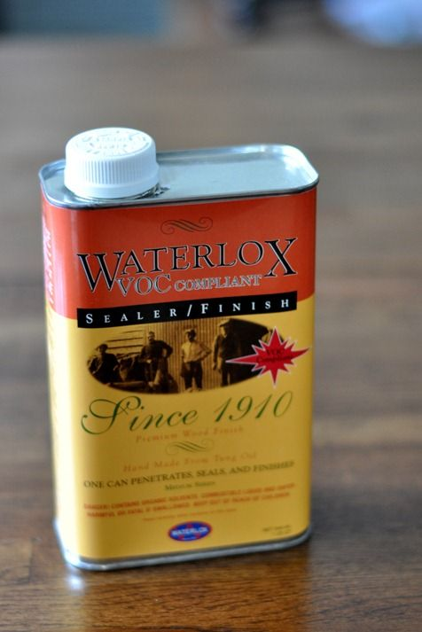 waterlox finish - recommended to help seal wood from water damamge