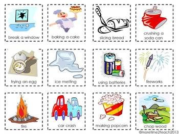 PHYSICAL VS. CHEMICAL CHANGE {FREE CUT & PASTE ACTIVITY} - TeachersPayTeachers.com