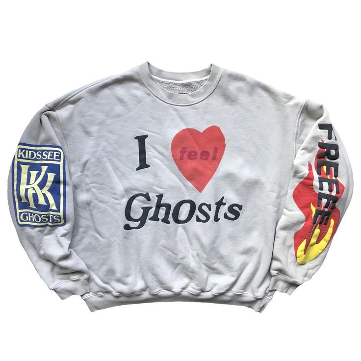 Cpfm X Ksg I Feel Ghosts Crewneck Sunday Flea Market In 2020 Kanye West Kids Feelings Kanye West