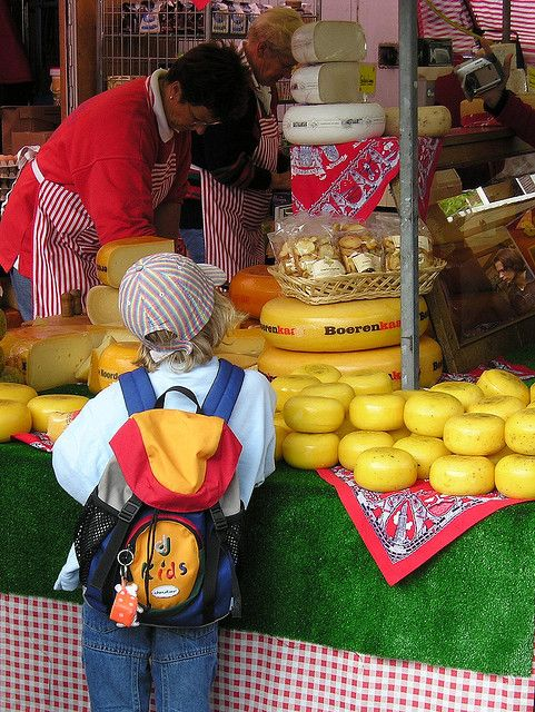 The cheese market in gouda is as Dutch as it can be.