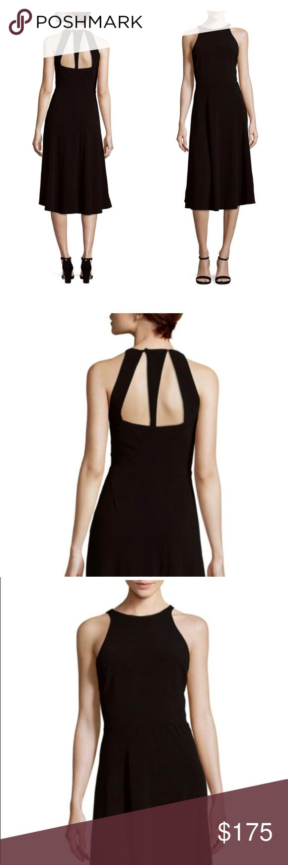 Halston Heritage Perfect Little Black Dress Back cutouts update this elegant dre... 3