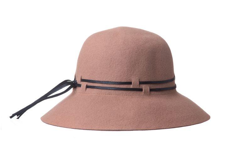Sombrero cinta piel, color taupé