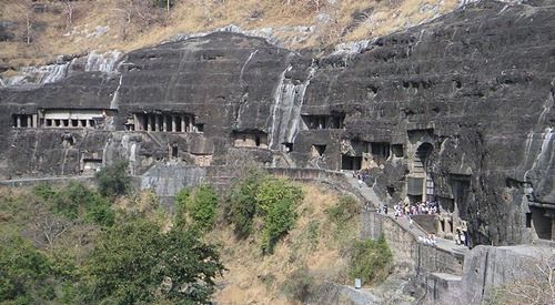 Ajantha & Ellora are 28 – 30 rock-cut cave monuments created during the first century BC and 5th century AD, containing paintings and sculptures considered to be masterpieces of both Buddhist religious art and universal pictorial art. The caves are located just outside the village of Ajantha / Ellora in Aurangabad district in the Indian state of Maharashtra. Since 1983, the Ajanta & Ellora Caves have been a UNESCO World Heritage Site.