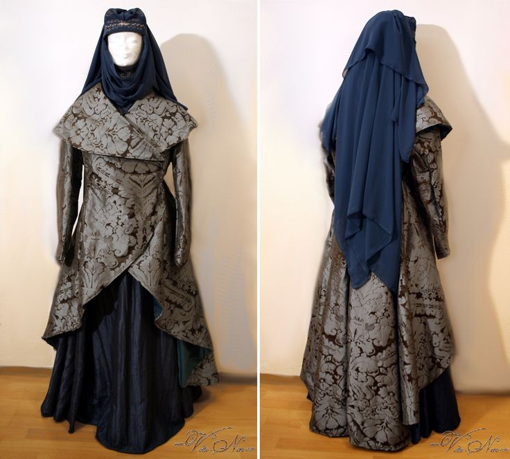 Lady Olenna Tyrell Queen of Thornes Game of Thrones cosplay costume gown