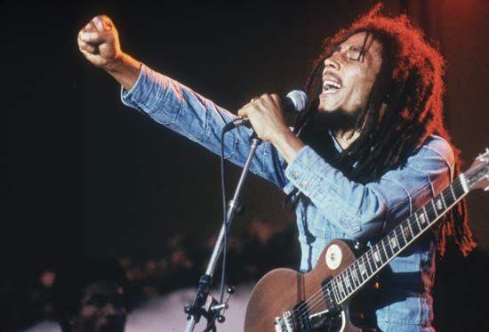 Bob Marley, a famous Reggae artist.