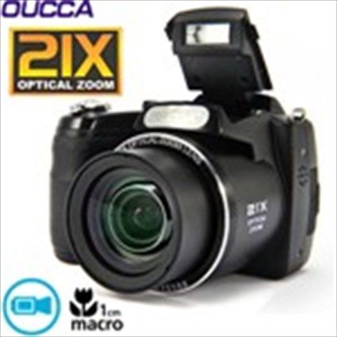 "(OUCCA) 3.0"" TFT LCD Screen 16MP CCD Sensor 5X Digital Zoom 21X Optical Zoom DC Digital Camera"