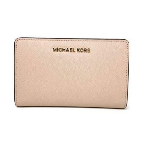 4f8ed0be106a61 Michael Kors Slim Bifold Wallet ~ Ballet Saffiano Leather Jet Set Travel  PVC NWT #MichaelKors #Bifold