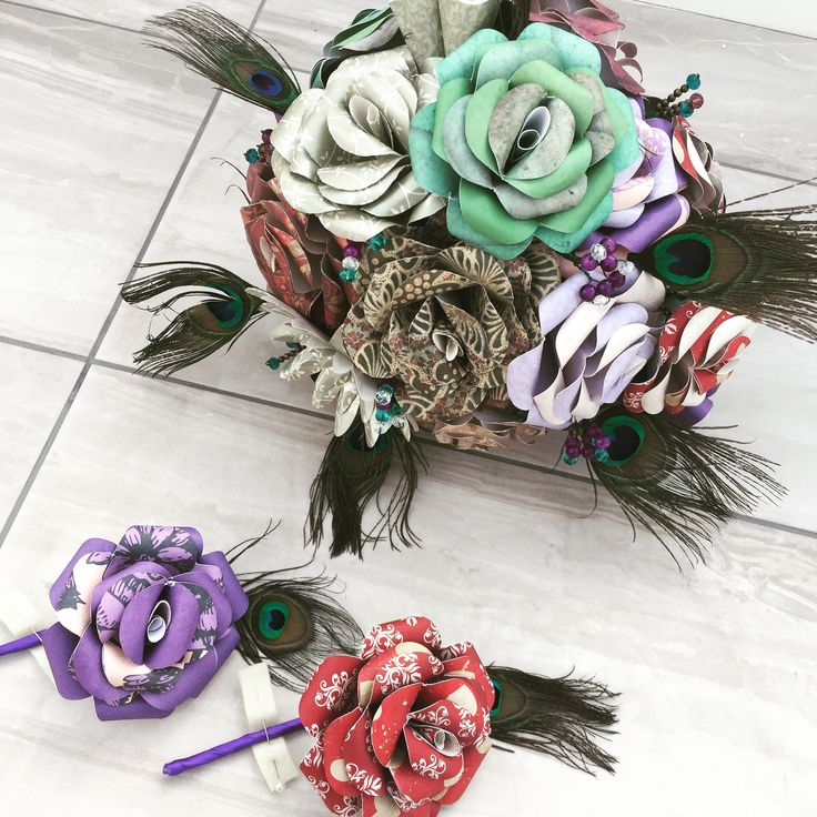 Custom made steampunk bridal bouquet with matching buttonholes   Www.facebook.com/DianaSianCrafts Www.etsy.com/uk/shop/DianaSianCrafts