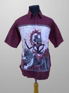 Baju Batik Kombinasi Tulis Pria Modern Motif Wayang Kode KT 34 Kirim Pesan ke 082134923704