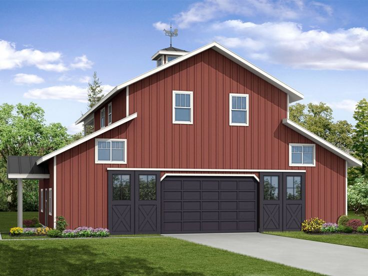 69 best carriage house plans images on pinterest garage Carriage barn plans