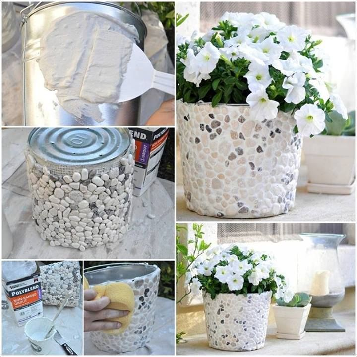 DIY Pebble Planter | DIY Cozy Home