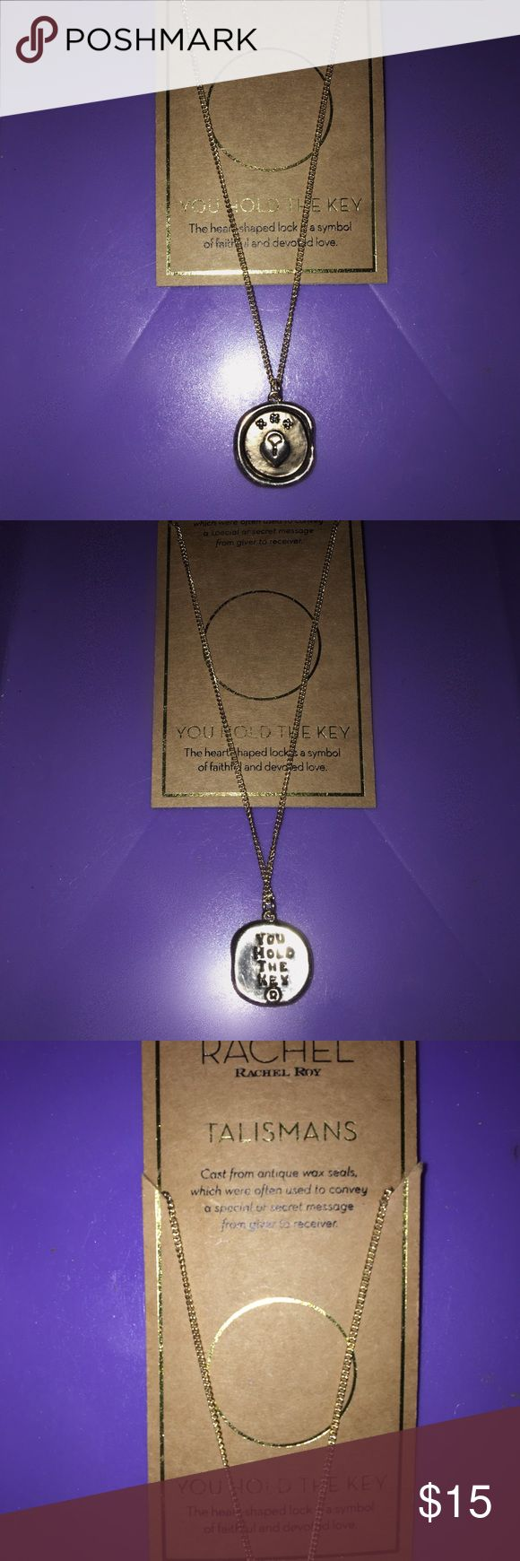 NWT Rachel Roy Love Talisman Necklace Cast from antique wax seals, which were often used to convey a special or secret message from giver to receiver.  You Hold the Key This heart-shaped locket is a symbol of faithful and devoted love. Rachel Roy Jewelry Necklaces