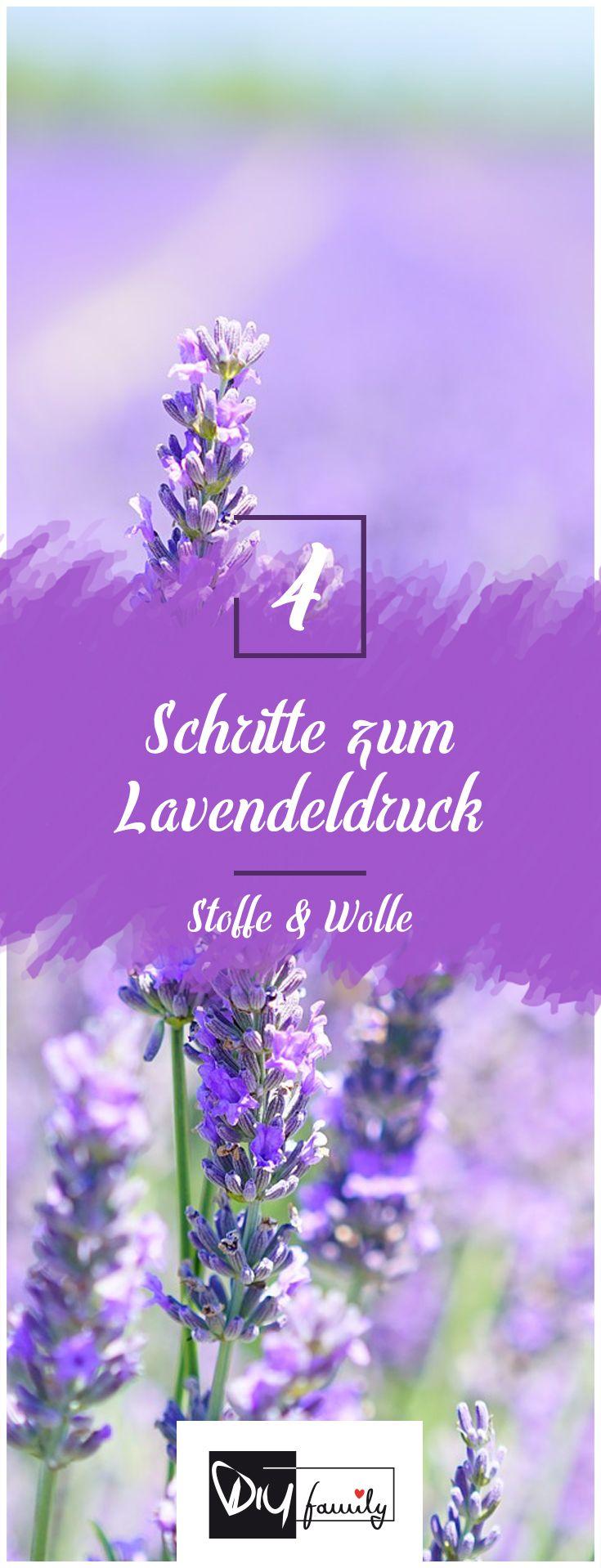 Textilien selbst bedrucken - mit dem Lavendeldruck  #diy, #print, #tutorial, #easy, #summer, #selfmade,