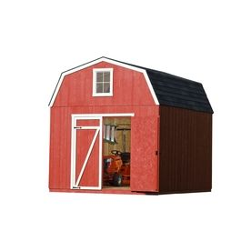 Heartland�Estate 10-ft x 16-ft Gambrel Wood Storage Shed (Actuals 10.19-ft x 16.23-ft)