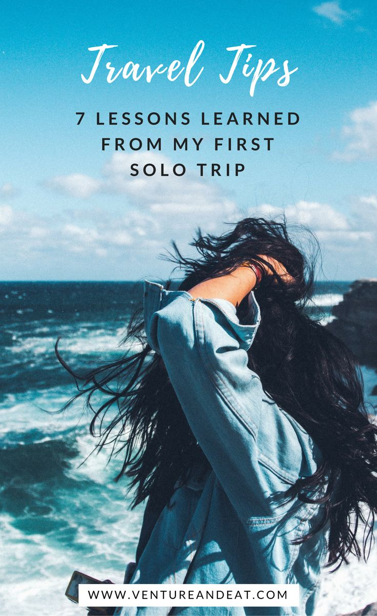 Solo #TravelTips | #Travel | Solo Female Travel | Travel Mistakes | Solo trips don't have be scary or daunting. I'm sharing some of the lessons I learned from my first solo trip!