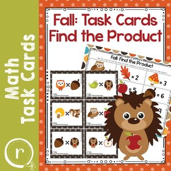 Fun task cards with Autumn characters. Each character represents a factor between 2 and 12. Students will decode the task card and then find the product for the multiplication problem. The PDF file has 48 task cards in color.No prep needed. Just print, laminate, and let them play!Includes an answer key and record sheet.Other items to check out:Multiplication StrategiesTask Card BundleHalloween Multiplication PracticeThank you for taking the time to check out my store.