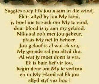 saggies roep Hy.....