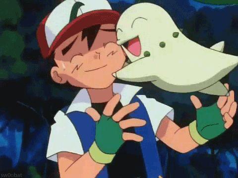 Ash & Chikorita