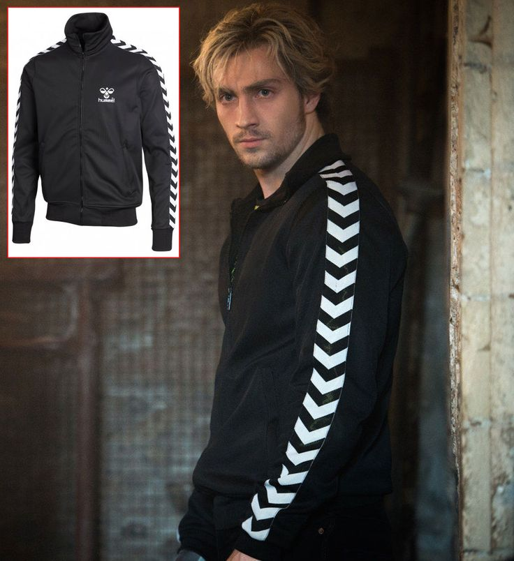 Quicksilver Pietro Maximoff Aaron Taylor Johnson black jacket Hummel