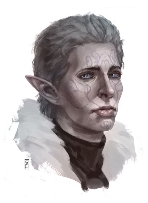 A portrait of my second inquisitor Lavellan) Romance with Josephine)