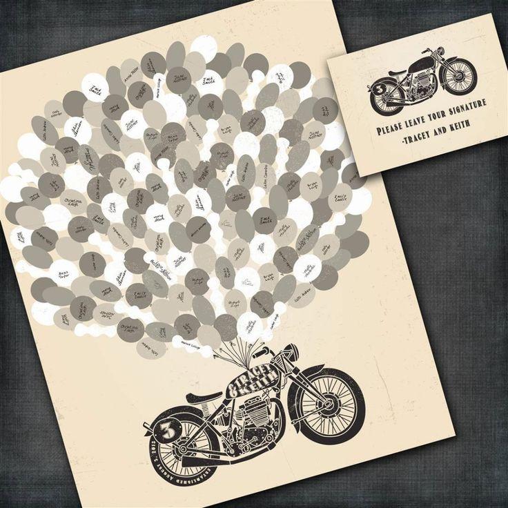 motorcycle wedding invitations