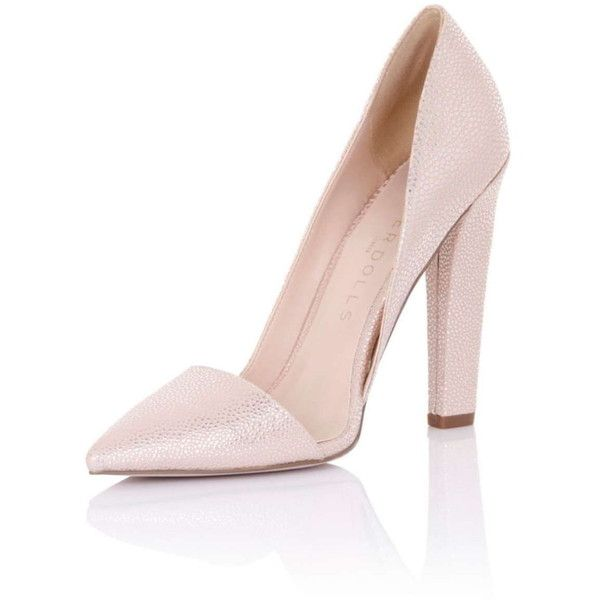 **Paper Dolls 'Nissa' Nude Shoes (300 BRL) ❤ liked on Polyvore featuring shoes, pumps, white, nude shoes, paper doll shoes, d orsay pumps, nude court shoes and white d orsay pumps