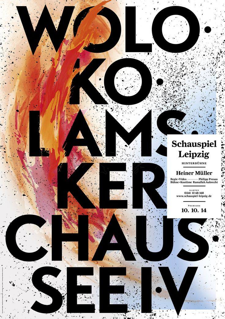 Bureau David Voss, Schauspiel Leipzig 2014/2015, Posters, 2014/2015 (in collaboration with HawaiiF3)