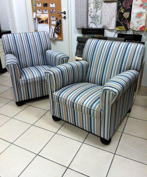 GB & Jbaker, Cowden Stripe, indigo sand www.verhoomopalttina.com