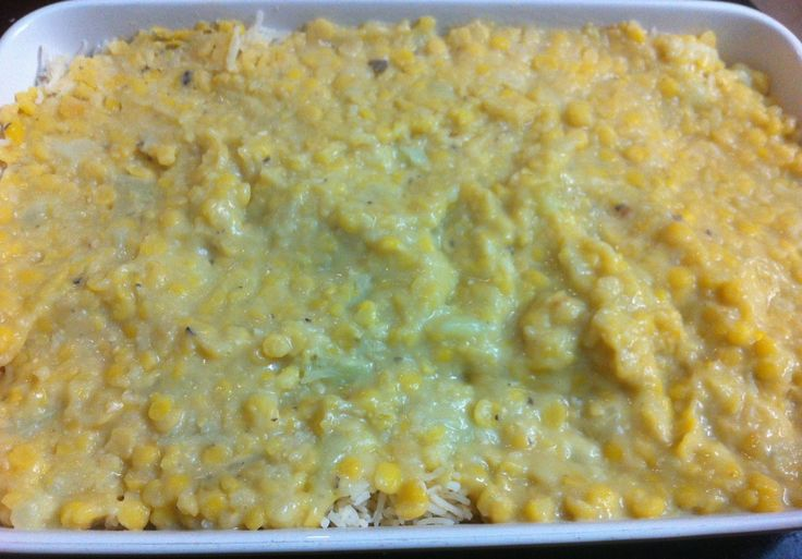 Yellow split pea and cauliflower combination over basmati rice!
