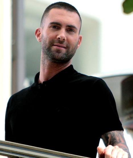 PIC: Maroon 5's Adam Levine Shaves His Head!
