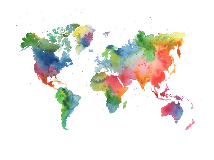 Wall mural R13431 Rainbow World