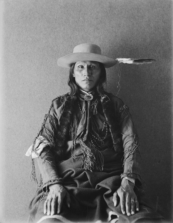 White Horse - Southern Cheyenne - Dog Soldier leader - 1895. - Was in the fight at the Little Big Horn battle. - The Dog Soldiers was one of six military societies of the Cheyenne Indians. Beginning in the late 1830s, this society evolved into a separate, militaristic band that played a dominant role in Cheyenne resistance to American expansion in Kansas, Nebraska, Colorado and Wyoming, where the Cheyenne had settled in the early 19th Century. -  http://en.wikipedia.org/wiki/Dog_Soldiers