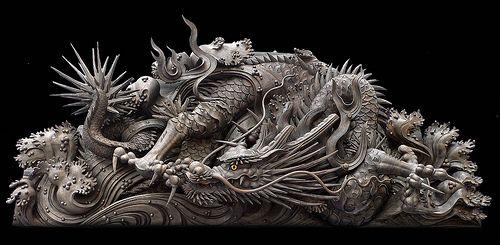 龍 彫刻 Sculpture  Japanese Garde