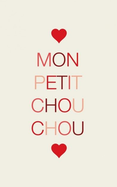 <3 affectionate memories of my french grandma who used to say this... (meaning 'my little cream puff '((chou à la crème))