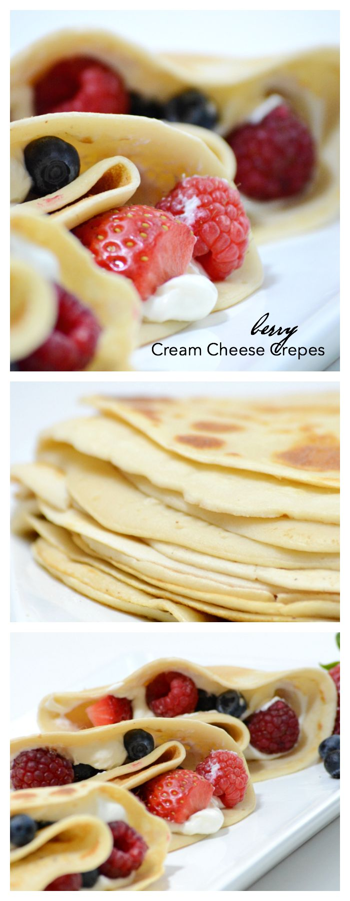 Recipes | Make these Berry Cream Cheese Crepes for Breakfast or a Brunch. The BEST Crepe Recipe we have found! Make them sweet or savory!